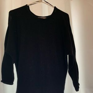 Black arm cut out sweater